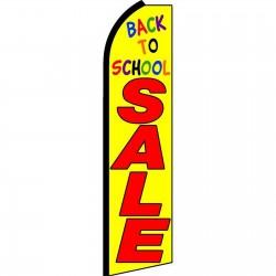 Back To School Sale Yellow Swooper Flag