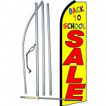 Back To School Sale Yellow Swooper Flag Bundle