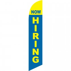 Now Hiring Blue Windless Swooper Flag