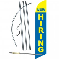 Now Hiring Blue Windless Swooper Flag Bundle