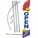 Open Smiley Windless Swooper Flag Bundle