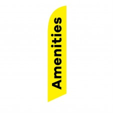Amenities Yellow Black Windless Swooper Flag