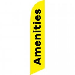 Amenities Yellow Black Windless Swooper Flag