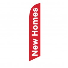 New Homes Red White Windless Swooper Flag