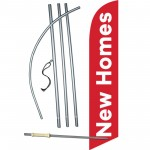 New Homes Red White Windless Swooper Flag Bundle