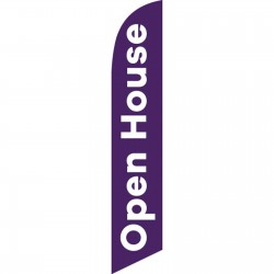 Open House Purple White Windless Swooper Flag