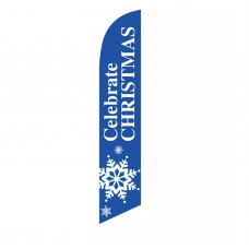 Celebrate Christmas Snowflake Windless Swooper Flag