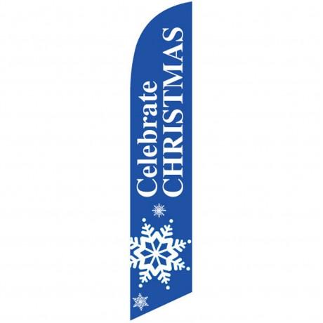 Celebrate Christmas Snowflake Windless Swooper Flag