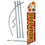 Indian Food Graphic Windless Swooper Flag Bundle