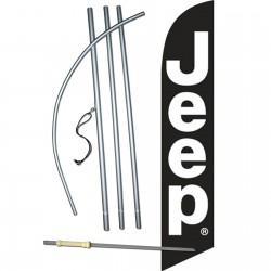Jeep Black White Windless Swooper Flag Bundle