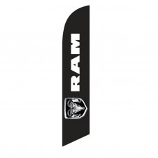 Dodge Ram Black Windless Swooper Flag