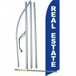 Real Estate Blue White Swooper Flag Bundle