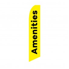 Amenities Yellow Black Swooper Flag