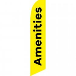 Amenities Yellow Black Swooper Flag