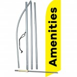 Amenities Yellow Black Swooper Flag Bundle