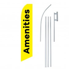 Amenities Yellow Black Swooper Flag Bundle