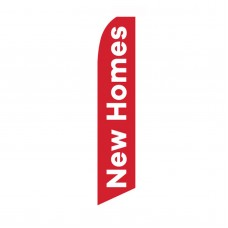New Homes Red White Swooper Flag