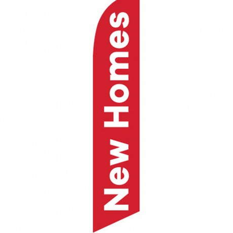 New Homes Red Swooper Flag