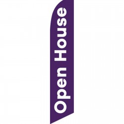 Open House Purple Swooper Flag