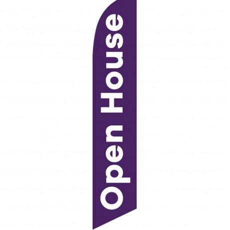Open House Purple Swooper Flag