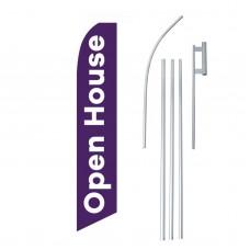 Open House Purple White Swooper Flag Bundle