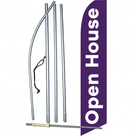 Open House Purple Swooper Flag Bundle