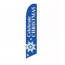 Celebrate Christmas Snowflake Swooper Flag