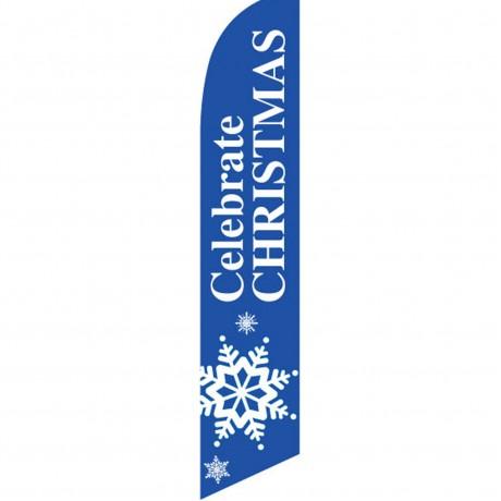 Celebrate Christmas Snowflake Swooper Flag