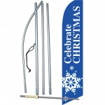 Celebrate Christmas Snowflake Swooper Flag Bundle