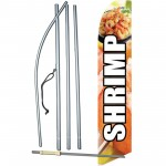 Shrimp Graphic Swooper Flag Bundle