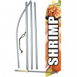 Shrimp Graphic Swooper Flag Bundle