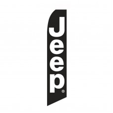 Jeep Black White Swooper Flag