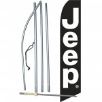 Jeep Black White Swooper Flag Bundle