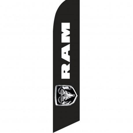 Dodge Ram Black Swooper Flag