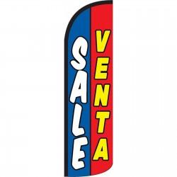 Sale Venta Red Blue Windless Swooper Flag