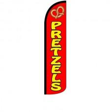 Pretzels Red Windless Swooper Flag