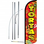 Tortas Red Yellow Windless Swooper Flag Bundle