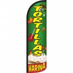 Tortillas Harina Green Yellow Windless Swooper Flag