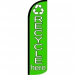 Recycle Here Green Windless Swooper Flag