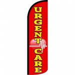 Urgent Care Red Windless Swooper Flag