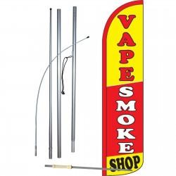 Vape Smoke Shop Windless Swooper Flag Bundle