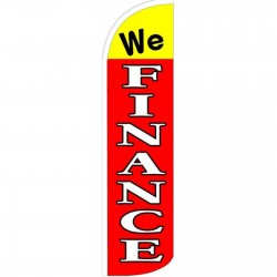 We Finance Red Yellow Windless Swooper Flag