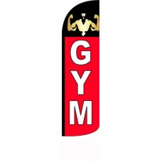 Gym Red Black Windless Swooper Flag
