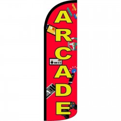 Arcade Red Windless Swooper Flag