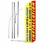 Installation Yellow Windless Swooper Flag Bundle