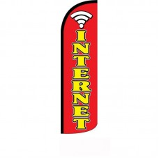 Internet Red Windless Swooper Flag