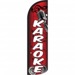 Karaoke Red Windless Swooper Flag