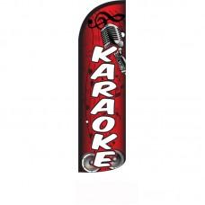 Karaoke Red Windless Swooper Flag