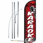 Karaoke Red Windless Swooper Flag Bundle