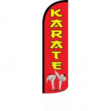 Karate Red Windless Swooper Flag